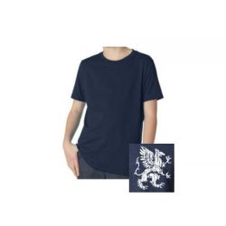 Youth Navy Griffin T-shirt